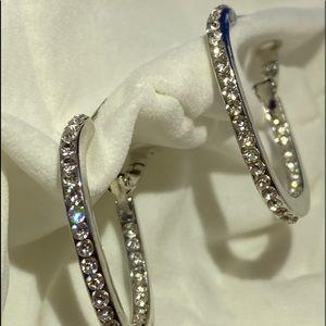 Diamonique hoop earrings